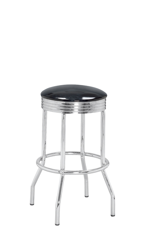 China Simple Bar Stool With Iron Frame Fs 90038 Stainless
