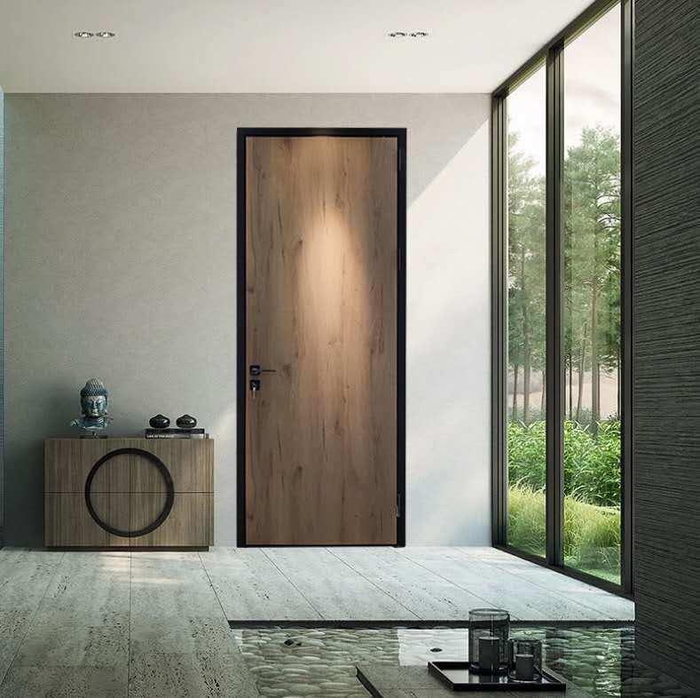 China Aluminum Frame Composite Wood Bathroom Door China Wooden Door Aluminum Door