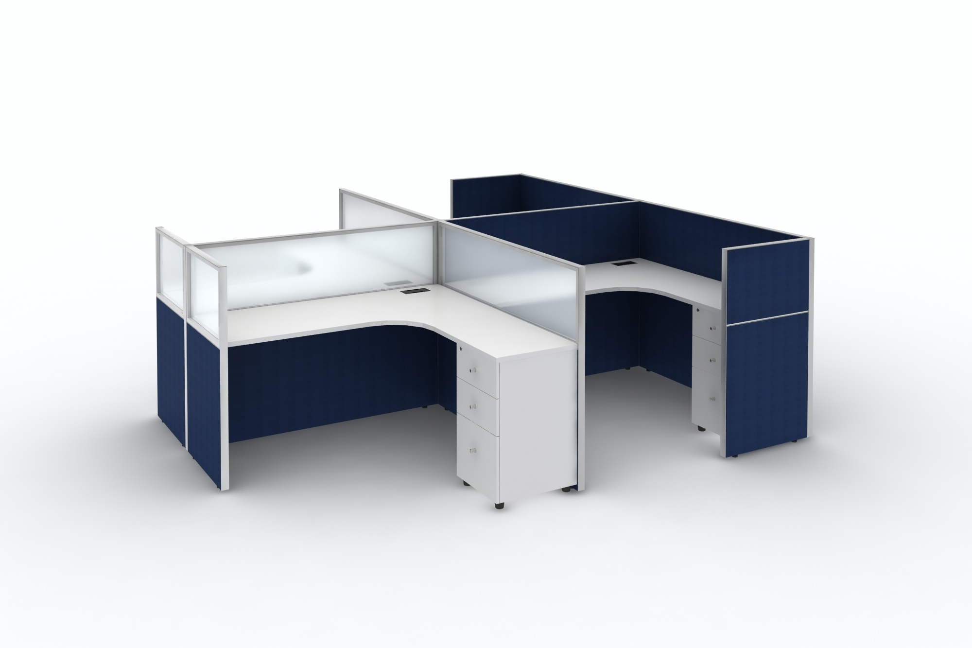 Image of: China Modern L Shape Office Desk White Table Intelligent Designs Office Furniture For 2 6 People China Workstation Office Workstation Factory