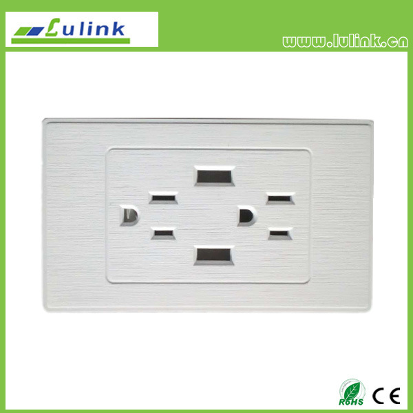 China North America AC Power Socket with 2 USB Wall Socket Outlets ...