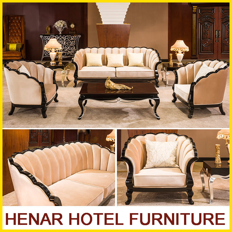 [Hot Item] Contemporary Wooden Sofa Set Furniture for 5 Star Hotel Lobby