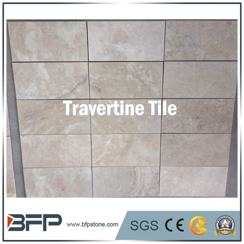 China Popular White Travertine Stone Outdoor Tile For Flooring Natural