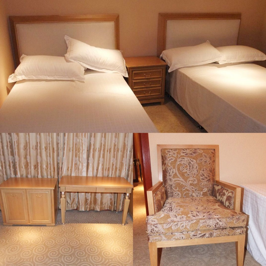 China Custom Made Contemporary Wooden Hotel Queen Size Bedroom