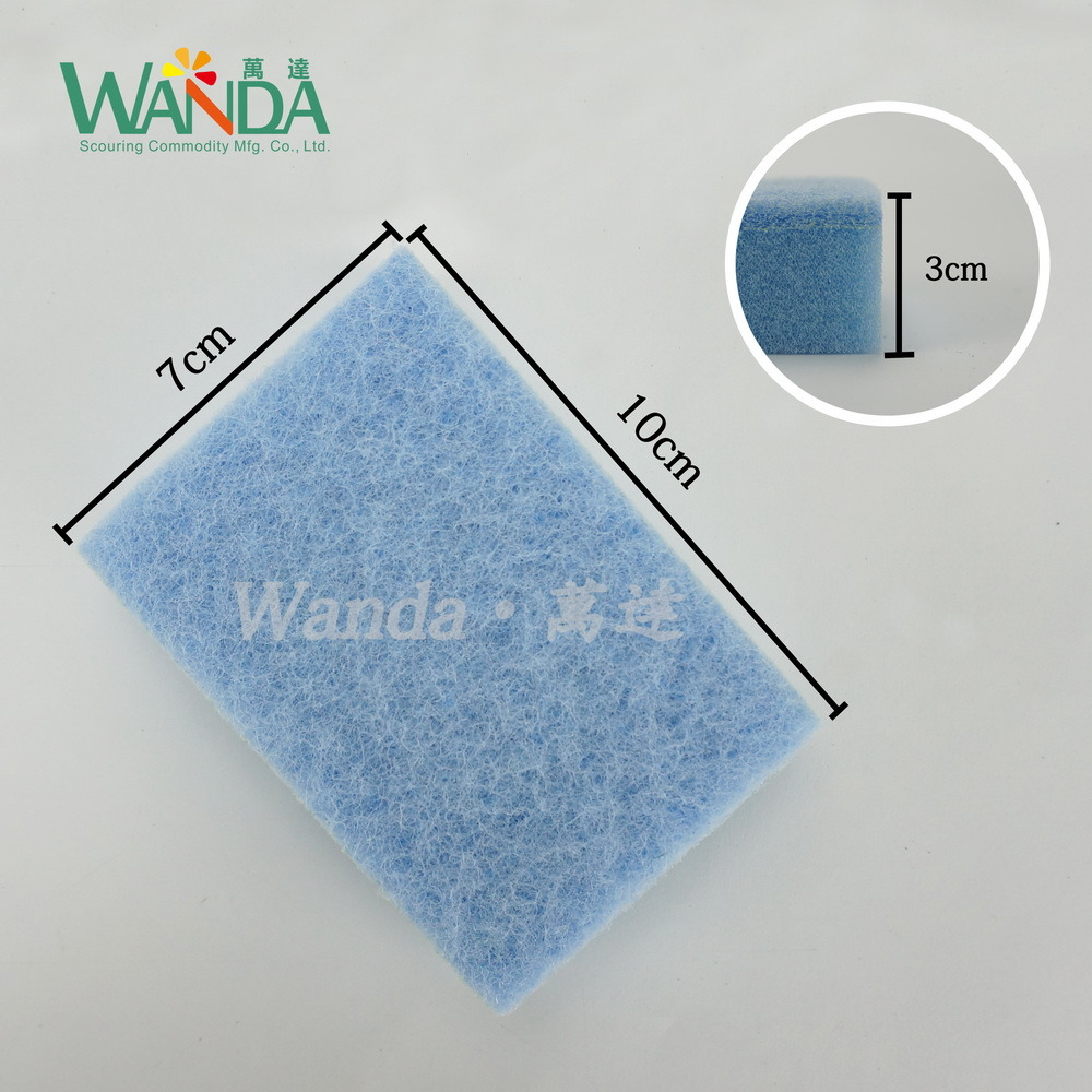 Colorful Medium Duty Cleaning Sponge Scouring Pad with Soft Sponge pictures & photos