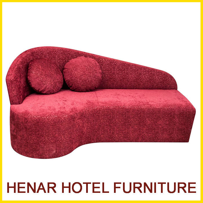 China Red Fabric Chaise Lounge Simple Design Sofa for Hotel Bedroom ...