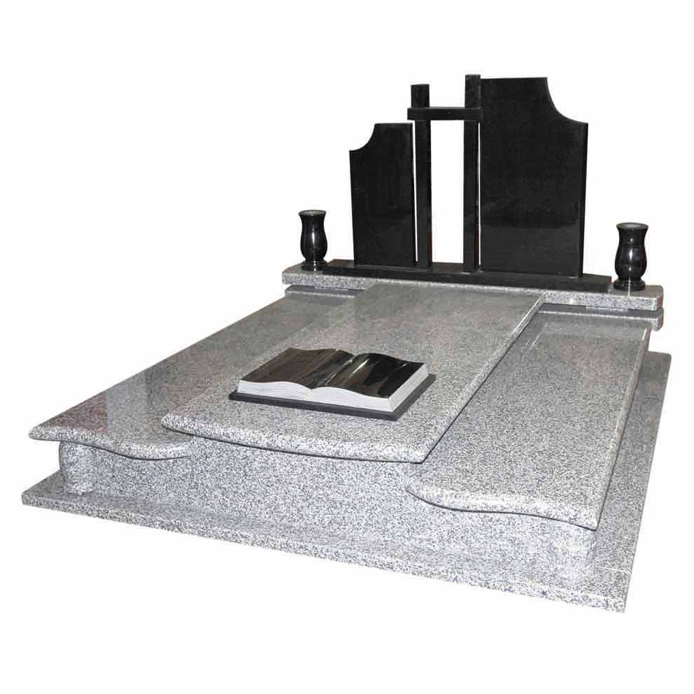 European Style Granite Double Monument&Tombstone with Book (G603, Shanxi Black)