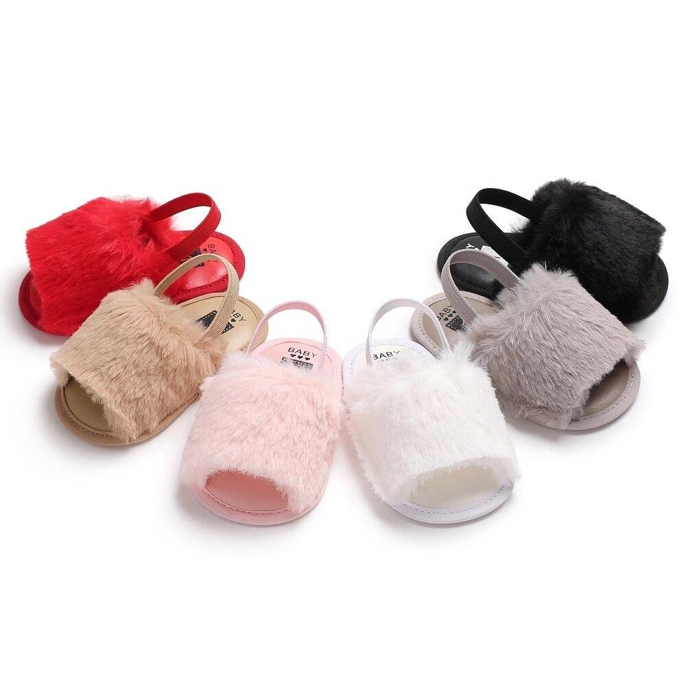 China Wholesale Infant Fur Sandals