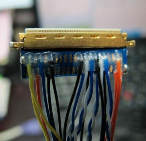 sample 4 wire harness: mini coaxial cable