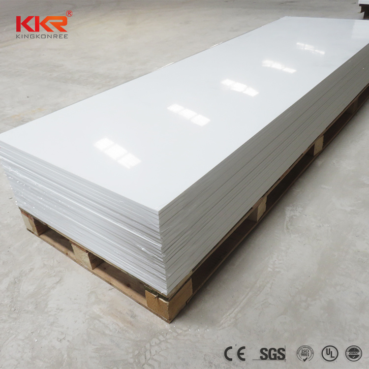 China Building Material Home Decoration Glacier White Wall Panel Solid Surface Corian Sheet China Solid Surface Sheet Glacier White Corian Sheet