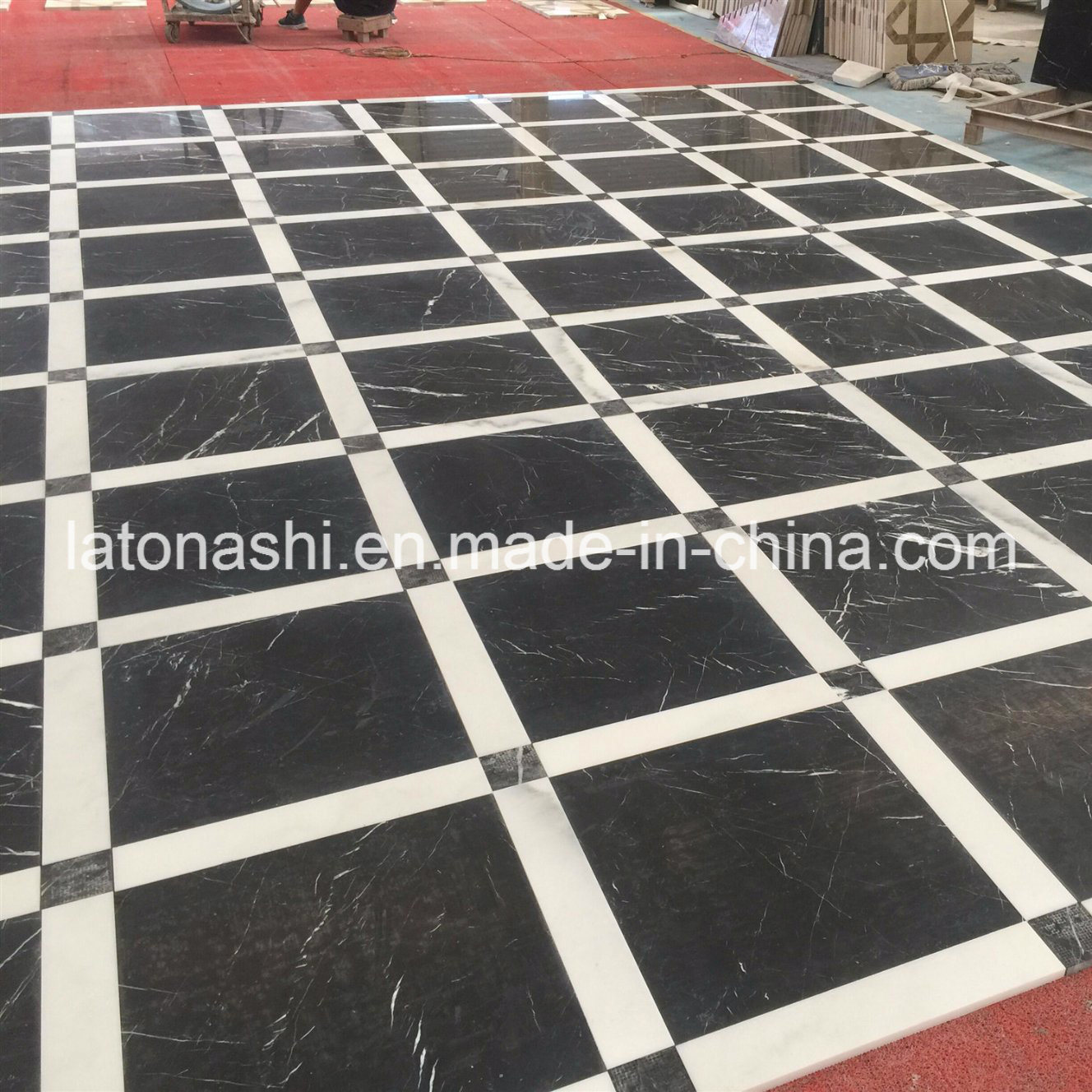 China Polished Honed Black Granite Marble Stone Tile For Floor Wall Cladding China Marble Tile Black Marble