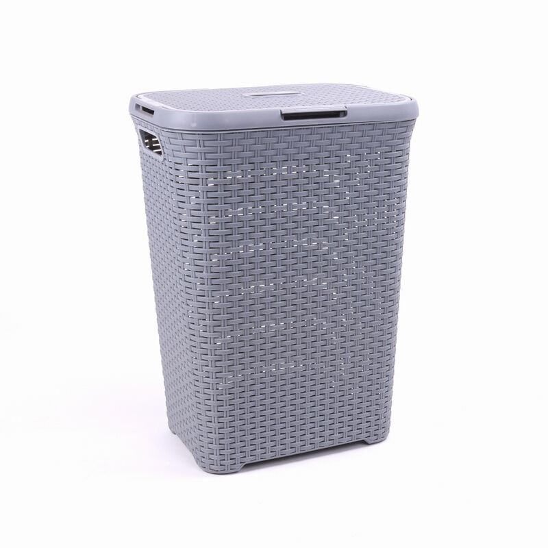 China 70l Lidded Hamper Plastic