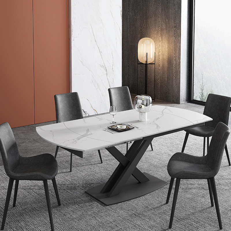 China Ceramic Dining Table, Stone Dining Room Furniture