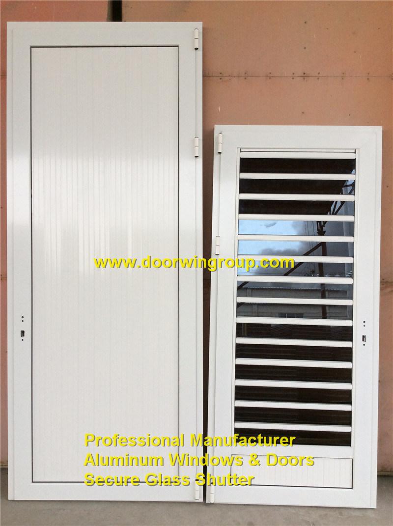 China Aluminum Glass Shutter Door With Flyscreen China Aluminum
