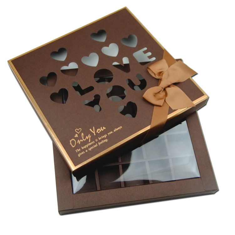 China Square Shape Chocolate Box With Die Cut Window