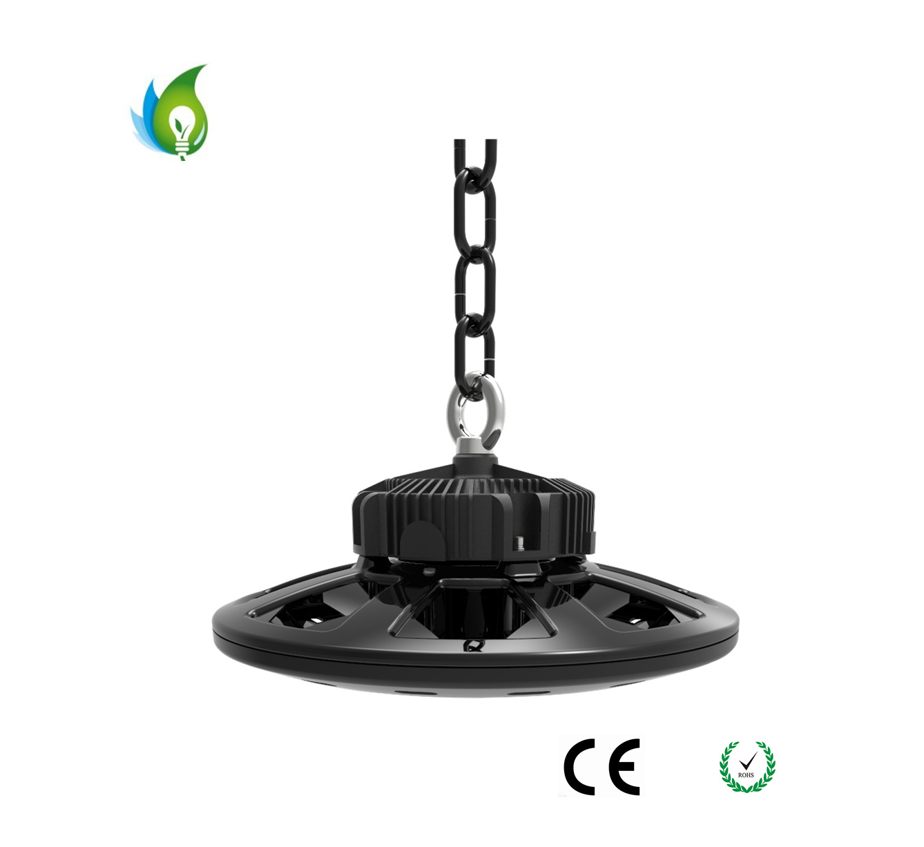 150W UFO LED High Bay Lamp with Ra. >80 and 130lm/W Meanwell Driver