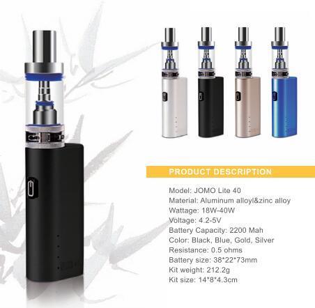 [Hot Item] EGO Lite 40 Jomo Wholesale Vape Box Mod E Cigarettes 40W Mini  Battery