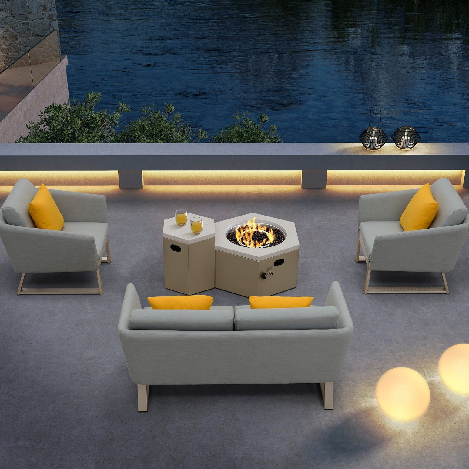 Image of: China Garden Furniture Outdoor Set Modern Propane Fire Pit For Home China Gas Fire Pit Outdoor Fire Pit