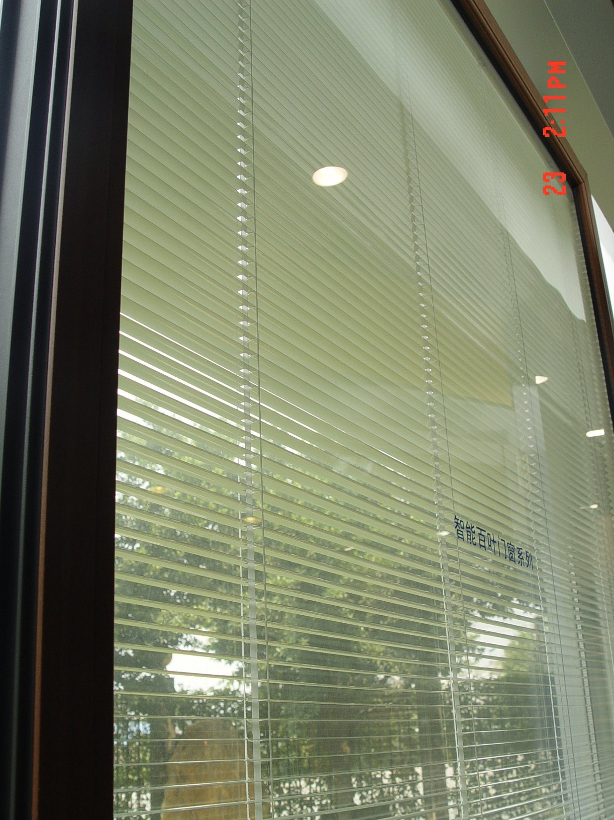 Aluminium Shutter Inside Glass Panel Door And Window/Aluminium Glass Blinds  Door And Window