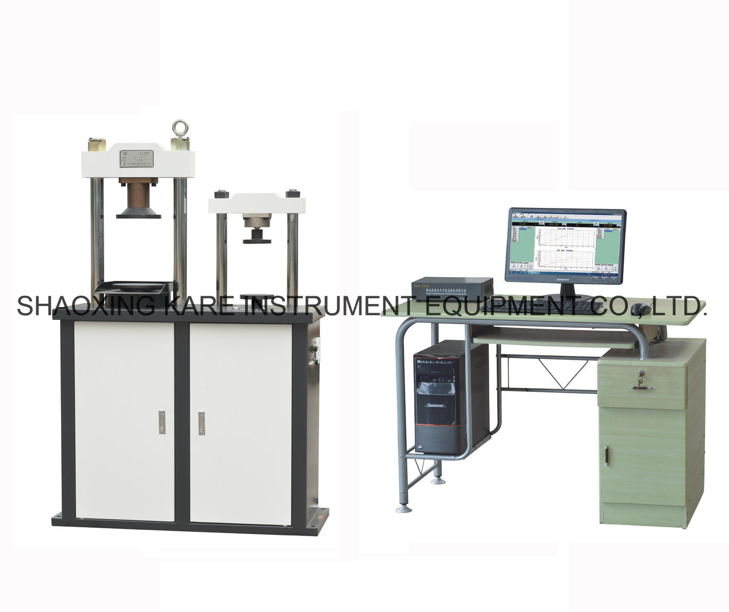 Electro-Hydraulic Servo Cement Flexure and Compression Testing Machine (YAW-300D)