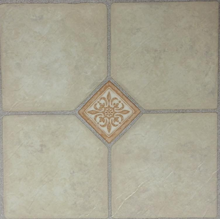 China Pvc Slate Embossed Geometrical Pattern Vinly Floor