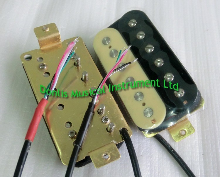 Hot Wholesale AlNiCo 5 Zebra Humbucker Guitar Pickup