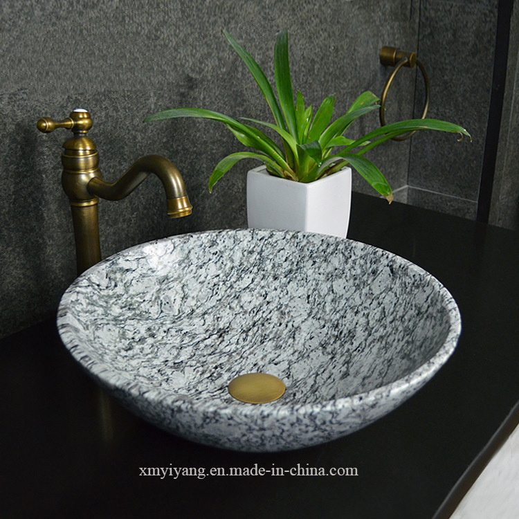 China Spray Spoondrift White Granite Sanitary Ware Lavabo For