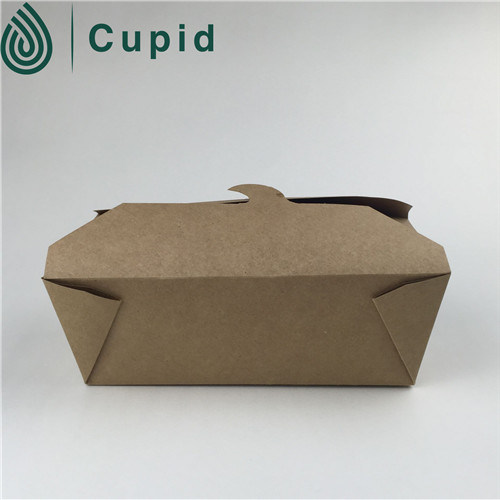 Wholesales Recycled Kraft Paper Meal Box Food Safe Paper Box