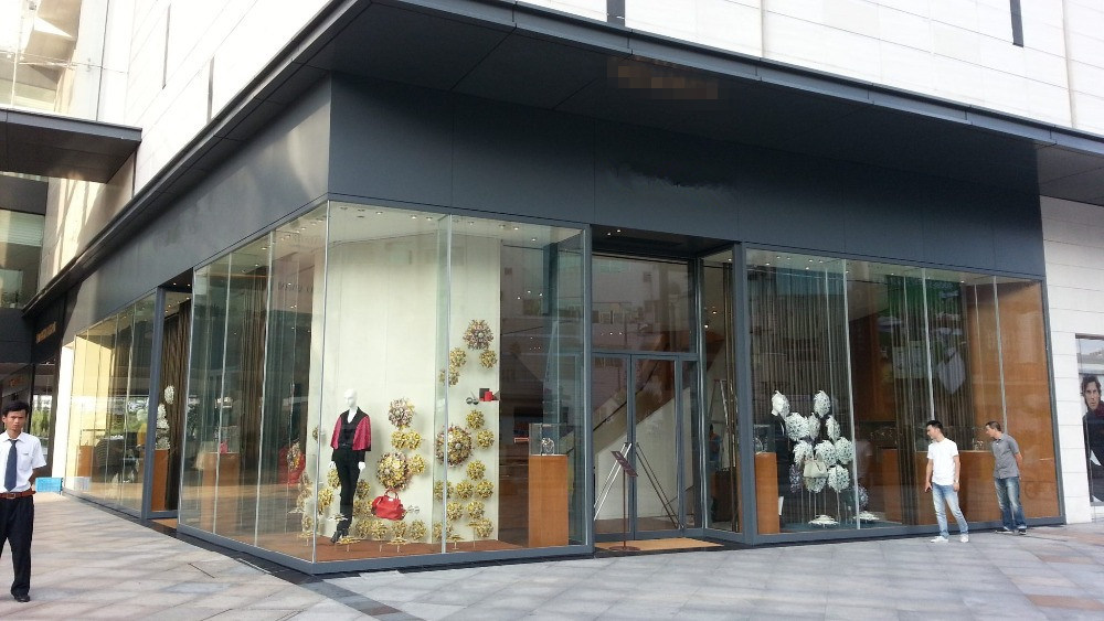 china modern fashion glass building tempered laminated glass for 4s