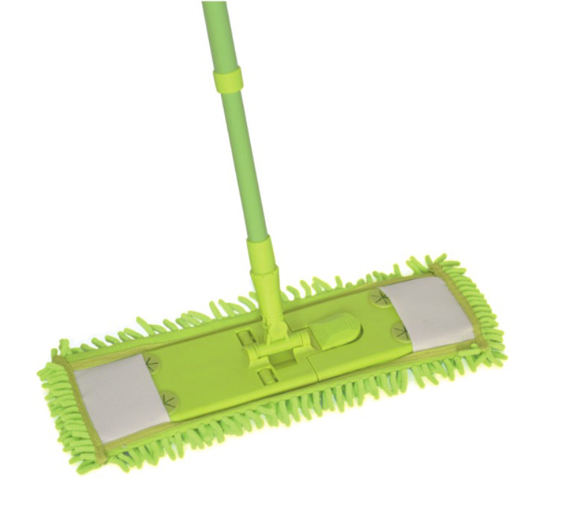 Telescopic Handle Chenille Microfiber Flat Cleaning Mop (1001)