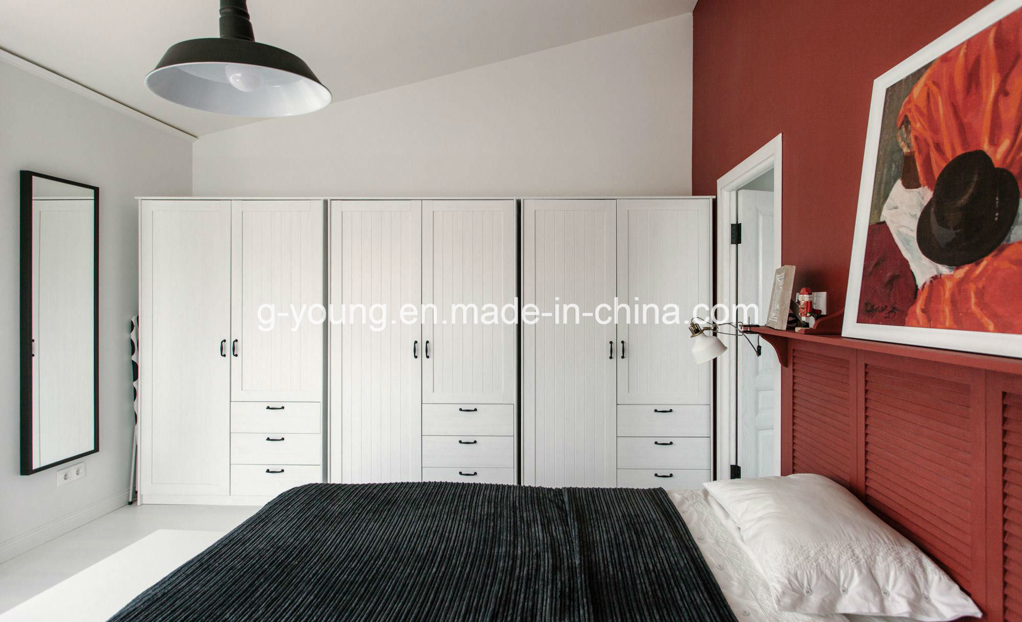 [Hot Item] Small Size Home Hotel Bedroom Furniture Wood Veneer Closet  Wardrobe
