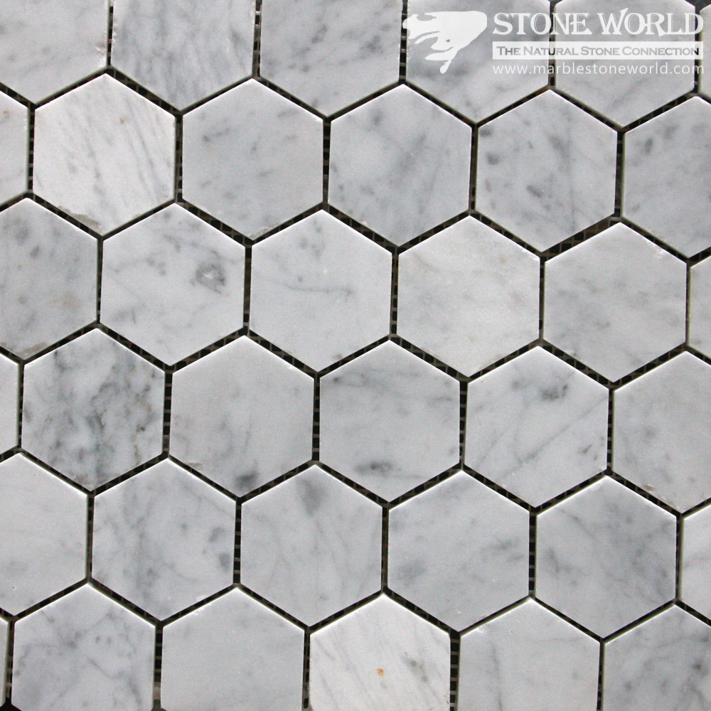 Polished White Marble Mosaic Tiles For Bathroom Floor Swimming Pool Mm 013