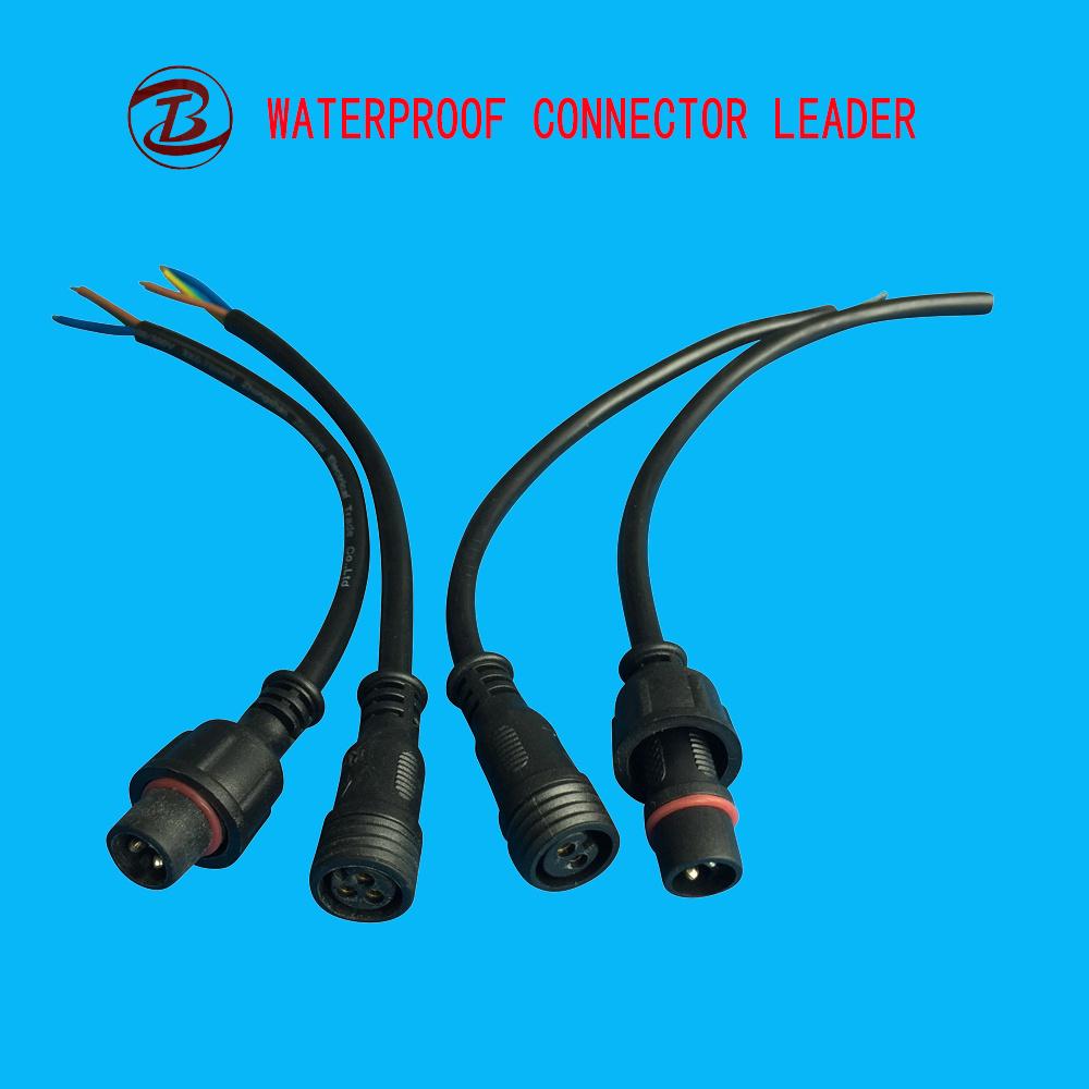 China Electric Plug Waterproof Male Female LED 2 3 4 Pin Wire ...