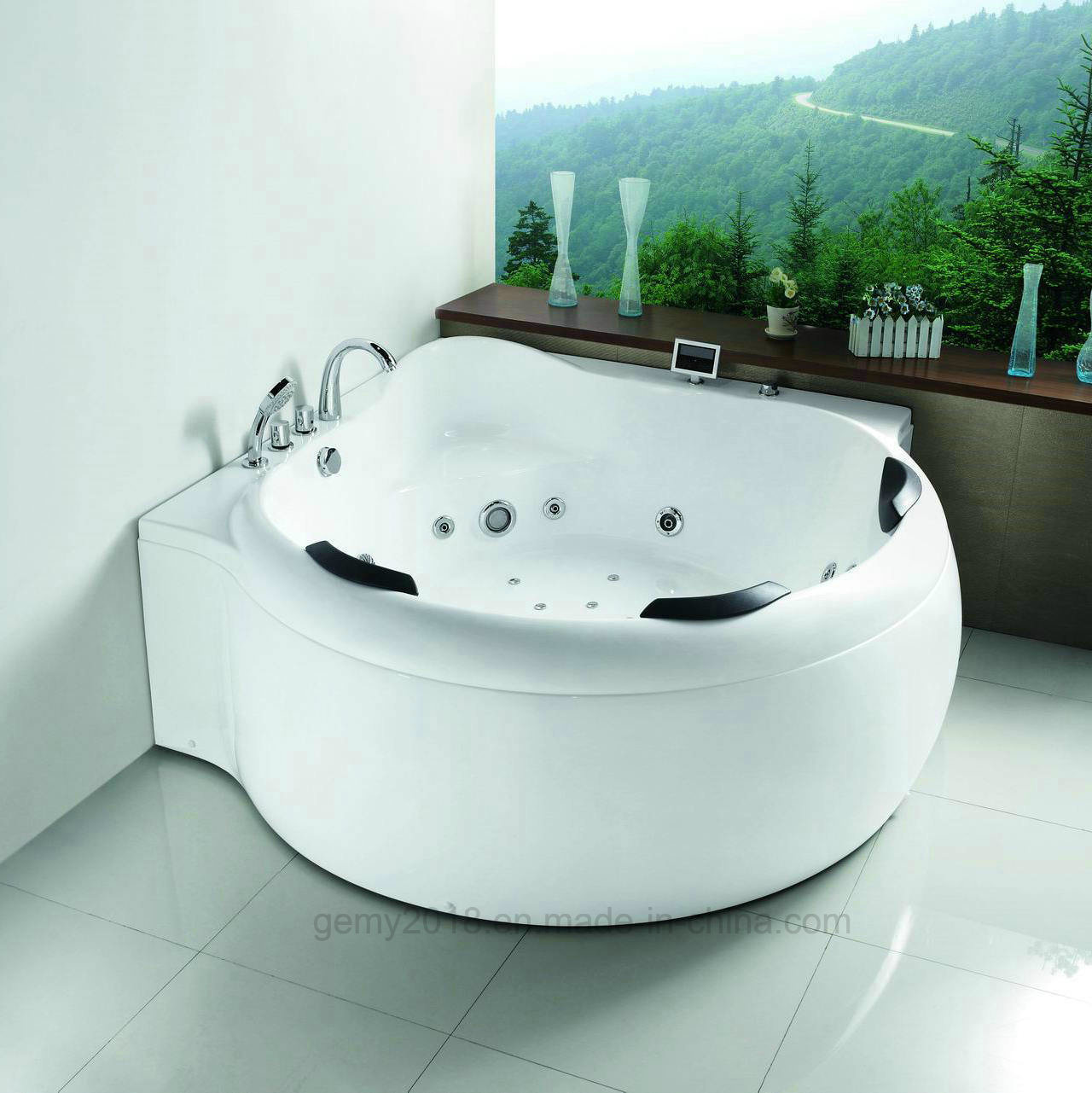 China Conner Round Shape Jacuzzi Bath Tub Sanitary Ware Waterproof ...