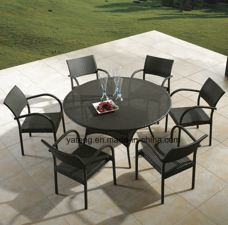 [Hot Item] Big Loading Quantity Cheap Outdoor Garden Furniture Dining Set  with Chair & Table (YT8)