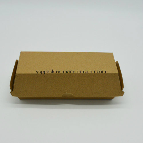 Disposable Kraft Paper Hamburger Lunch Food Box Fast Food Container pictures & photos