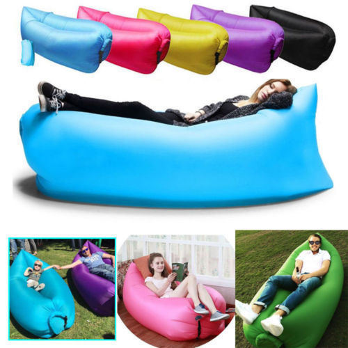 Outdoor Convenient Inflatable Lounger Polyester Fibre Sleeping Compression Air Bag Hangout Bean Portable Dream Chair For Beach Travelling Fishing