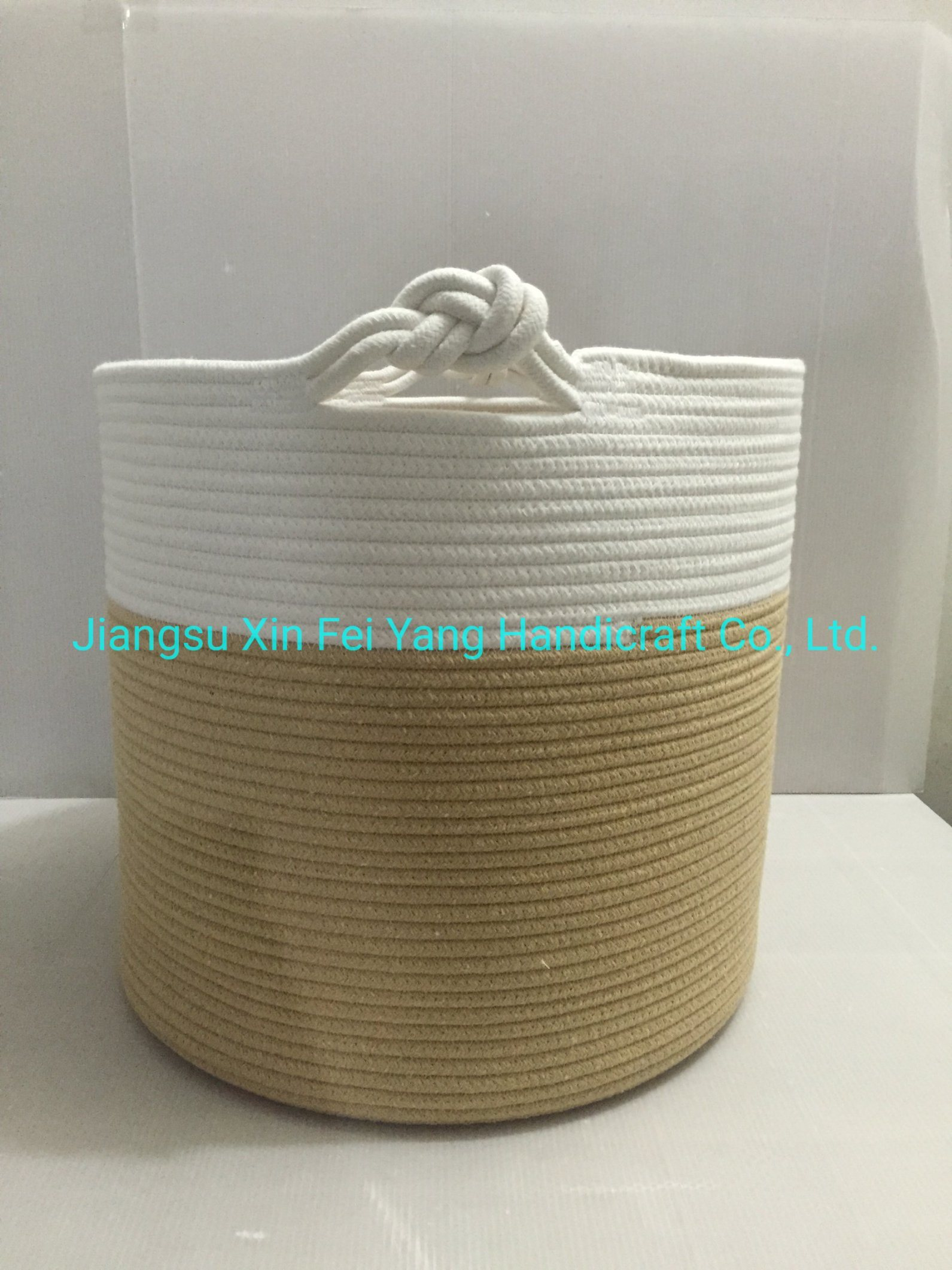 China Cotton Rope Basket 18 X 14 Baby Laundry Basket Laundry Hamper Woven Blanket Basket Nursery Bin Organizer Toys Storage Basket With Lucky Knots Handle China Baby Laundry Basket And Nursery Bin Organizer Price