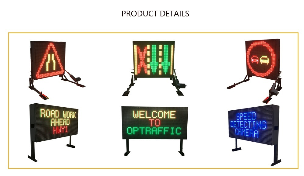 China 19m Outdoor Mobile Electronic LED Matrix Board Portable Signs