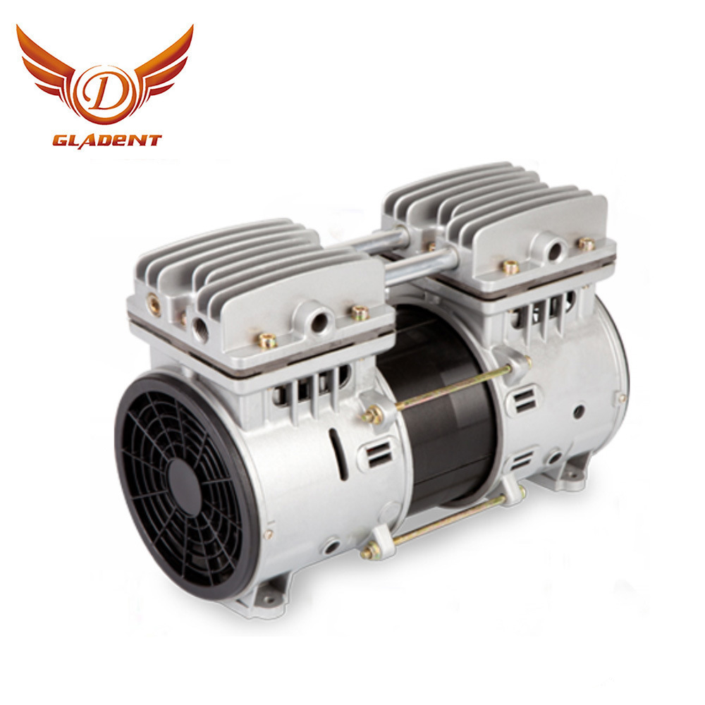 China Ac Double Piston Silent Oilless Air Compressor Motor Oil Free Air Compressor Pump Oil Free Air Compressor Head China Oilless Air Compressor Motor Oil Less Air Compressor