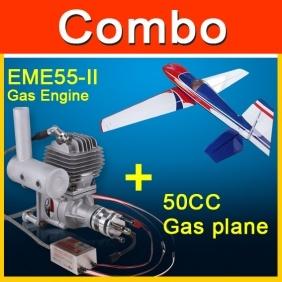 China Combo Edge 540 50CC Gas Plane Red/Blue/White +Eme55-Ii