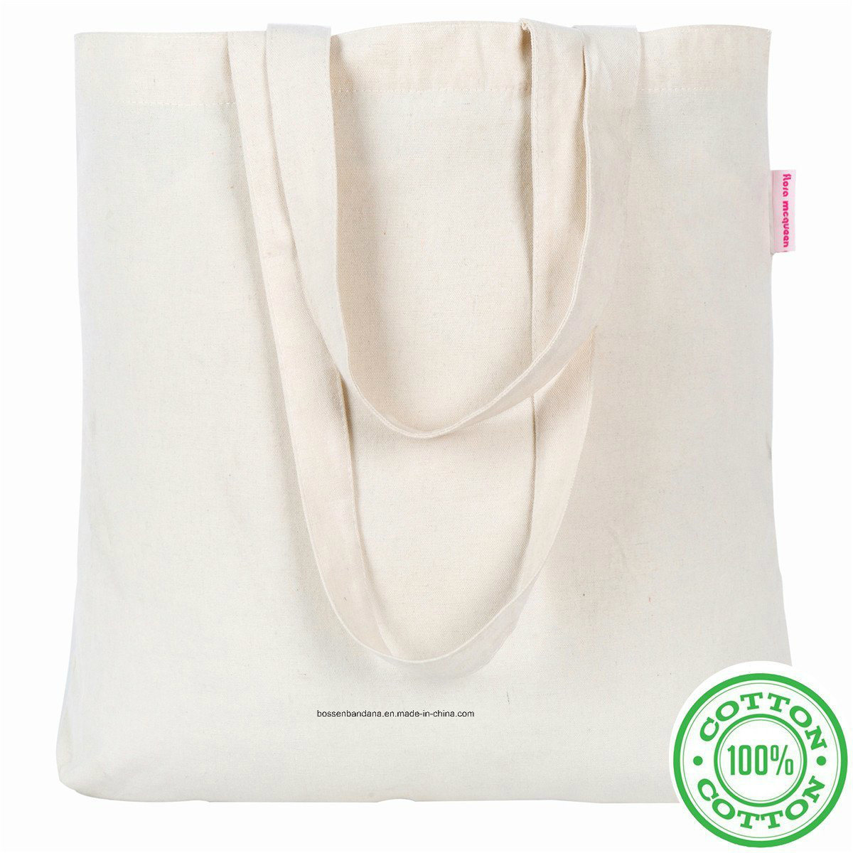 OEM Produce Logo Printed Promotional Duty Natural Cotton Canvas Craft Tote Handles Bag pictures & photos