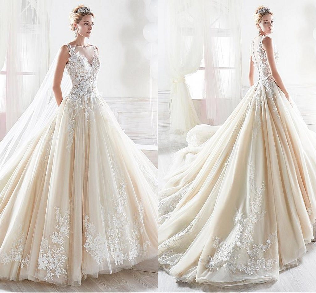 Sleeveless Bridal Dresses Long Sleeves