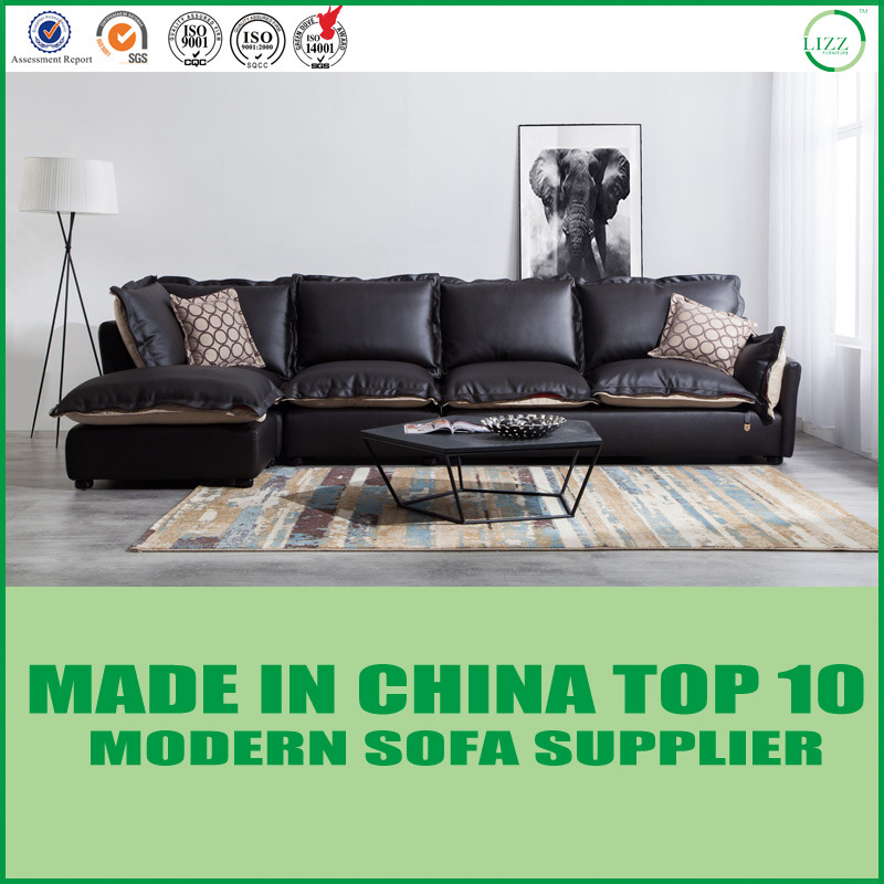 [Hot Item] Modern Sectional Corner Sofa Leather Sofa Bed