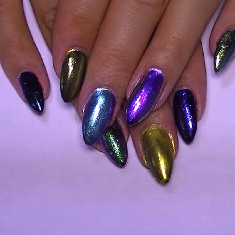 China Chameleon Galaxy Glitter Nail Art Design Pigment Powder Photos ...