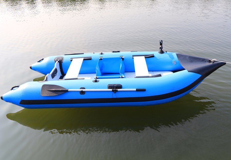[Hot Item] New Arrival Air Deck Floor Inflatable Fishing Boat, Rowing Boat,  Paddle Boat for Sale