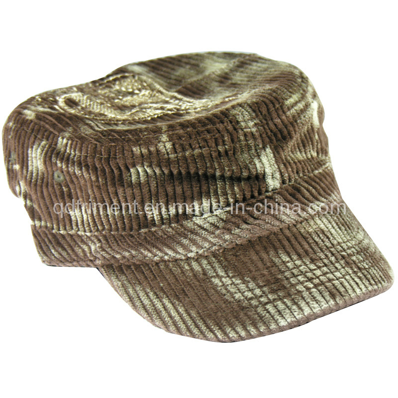 d718288030a China Monkey Washed Corduroy Embroidery Leisure Military Cap (TRNM019) -  China Military Hat