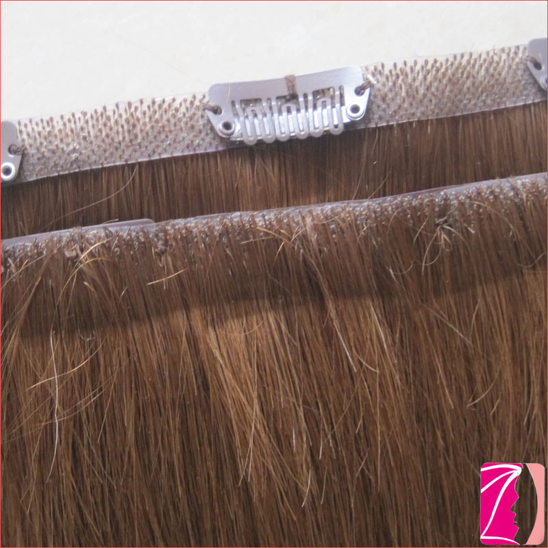 China Remy 100 Human Seamless Clip In Hair Extension China