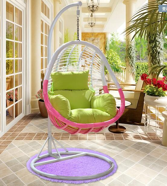 Hot Item Pe Rattan Hanging Chair Sofa Swing Hammock With Cushion