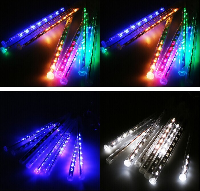 LED Meteor Shower Ce/RoHS Approved 8PCS/Set 144LEDs Rain Drop Tube Light