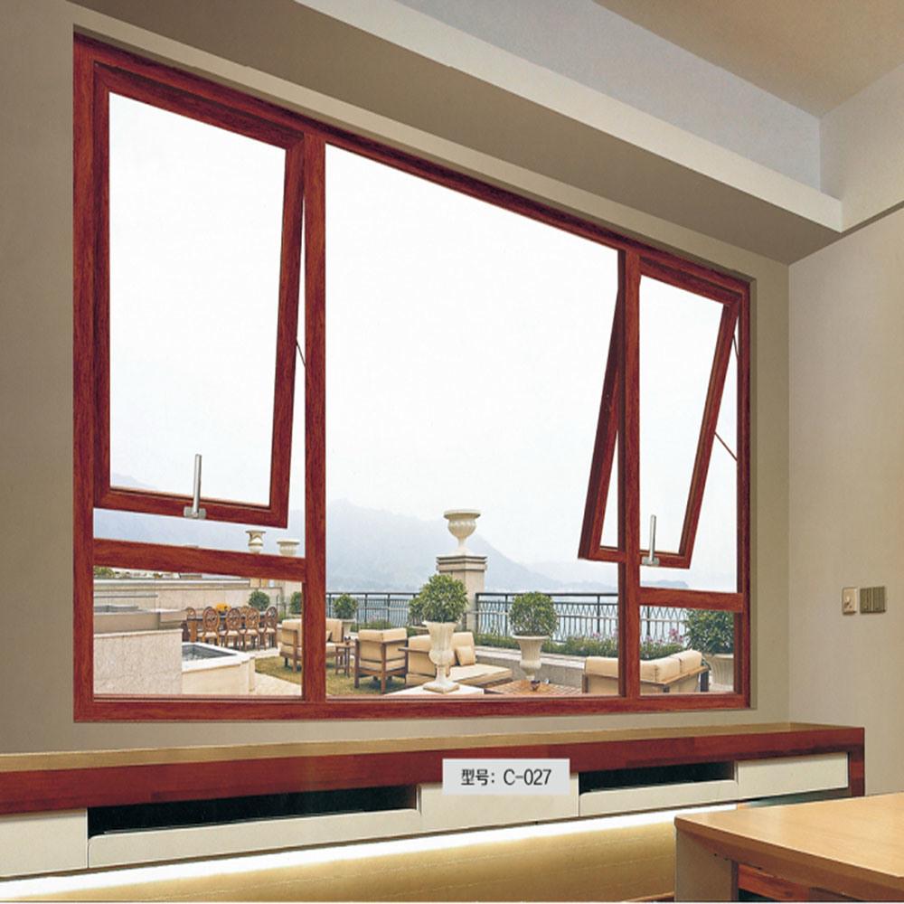 China Guangzhou Factory French Window Dimensions Wood Lowers Designs In Kerala Aluminum Cat Gl
